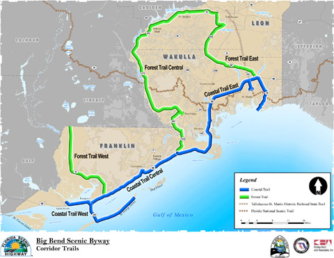 Big Bend Scenic Byway Trail Map