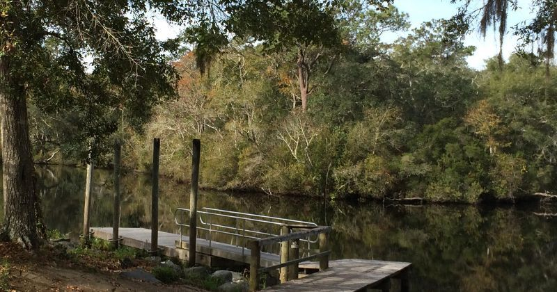 Myron b. Hodge City Park - dock on Sopchoppy River