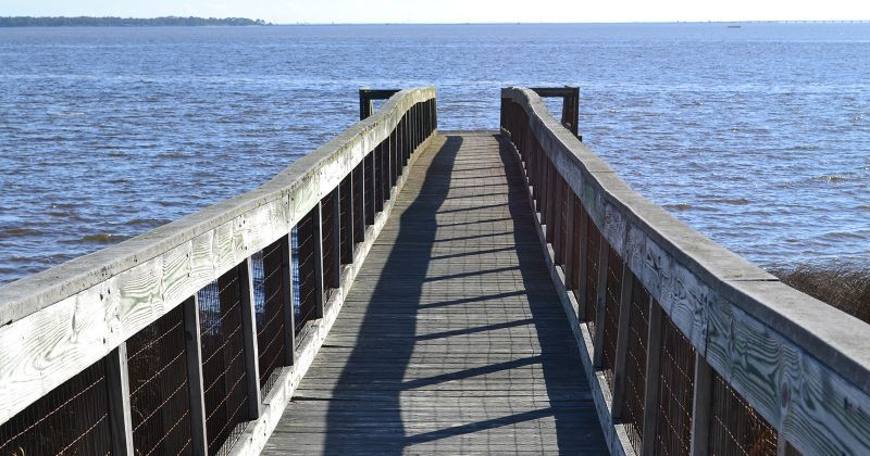 Sand Beach Recreation Area boardwalk to dock on the Apalachicola River