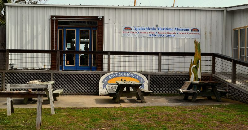 Apalachicola Maritime Museum and Riverfront Park - ramp to museum displays