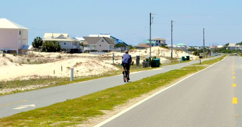 St. George Island Multiuse Trail- ride or walk on roadside trail