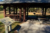 Silver Lake Recreation Area - picnic pavillion and grill