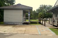 Sopchoppy Depot Museum - parking with ramp to restroom and museum entrance