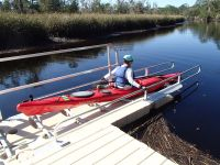 Ochlockonee River State Park - kayaker using launch at the park
