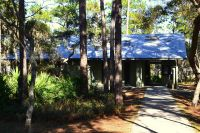 Ochlockonee River State Park - paved walkway to restroom and shower