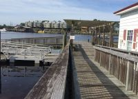 Carrabelle Riverwalk & Wharf - ramp to dock
