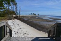 Steps to beach and tidal area at Mashes Sands Fishing Pier