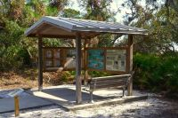 Interpretive kiosk on Sunrise Beach - Bald Point State Park