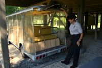 Nature tour tram at St. Marks National Wildlife Refuge