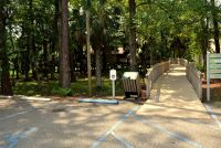 Parking and boardwalk entrance to visitors center - St. Marks National Wildlife Refuge