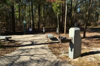 accessible pathway and drinking fountain at Leon Sinks Geological area