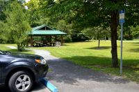 Proximity of Accessible Parking to Picnic Area at Wakulla Station Trailhead, St. Marks Historic Railroad State Trail
