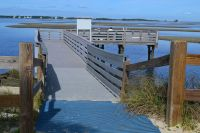 Northend fishing pier at Bald Point State Park