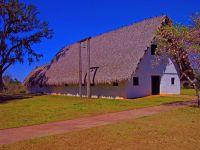 Interpretive structure at Mission San Luis