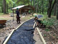 Fort Gadsden - trail preparation to interpretive building