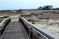 Dr. Julian G. Bruce St. George Island State Park - trail boardwalk from parking lot