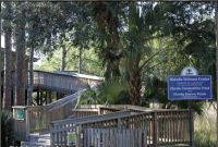 Boardwalk entry to Wakulla Welcome Center in Panacea